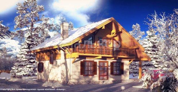 Будинок-шале з клеєного бруса