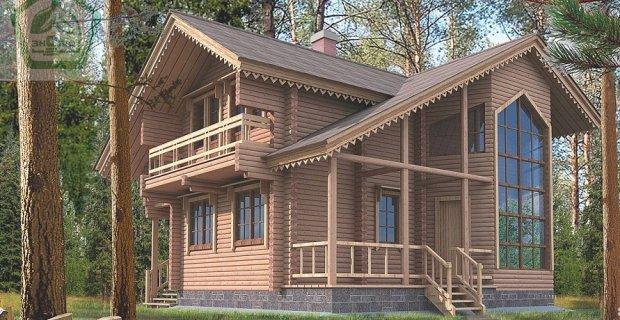 Фінський будинок з клеєного бруса