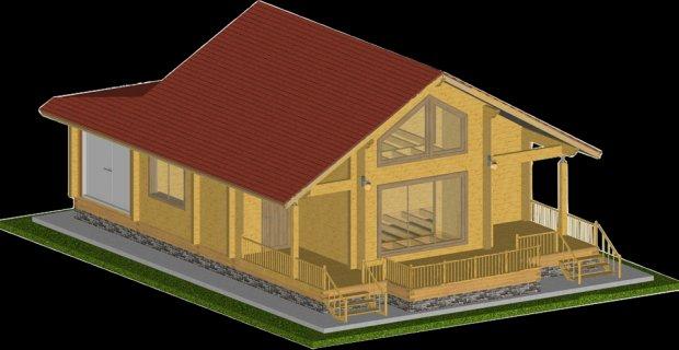 Проект будинку навколо Брюса 140,6m2